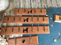 Up cycled reclaimed hand made coat hooks , wall wine racks