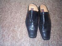 Shoes Leather Back Black Shoes for Men UK Size 45