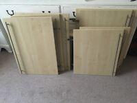 Various size kitchen Unit cabinet doors beech effect