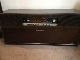 BEAUTIFUL VINTAGE GRUNDIG STEREO/ RECORD PLAYER