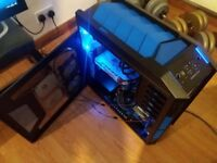 Very high Spec Gaming PC - Watercooled I7-5820K at 4.2GHz, 16GB DDR4, 8GB RX 580 Graphics Card, SSD.