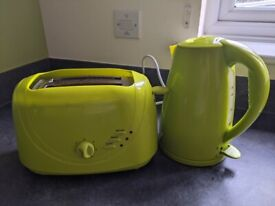 Toaster & kettle setting - matching lime green