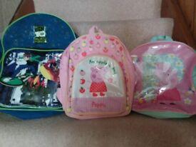 Four children's bags
