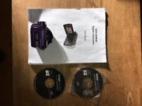 Vivitar DVR 508NHD Digital Video Camera, cable, manual and CD's for sale