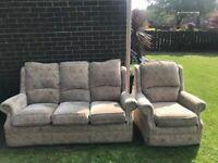 Good Condition Sofa & Chair