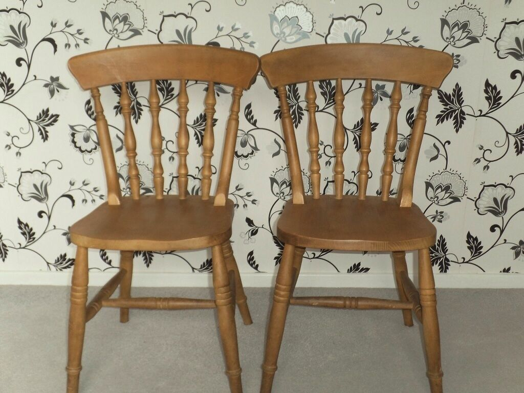 Two Pine Chairs For A Dinning Table In Norwich Norfolk Gumtree