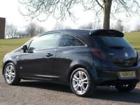VAUXHALL CORSA 1.2 LOW MILEAGE PETROL 2008 SXI BLACK GOOD CONDITION