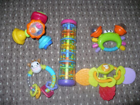 Bundle of 5 rattles/ teethers incl. musical Sophie The Giraffe. Very good condition.