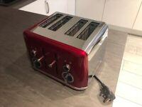 Red breville 4 slice toaster