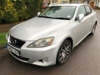Lexus IS 250 2499cc Petrol Automatic 4 door saloon 55 Plate 24/11/2005 Silver