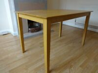 Dining Table, solid wood, size: 48 x 30 inches.