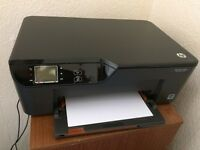 HP Deskjet 3520 e-All-in-One Printer + ink and white printing paper