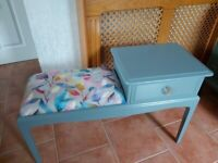 Stag Stool Seat Telephone Hall Bedroom Table Drawer Chair Can Deliver