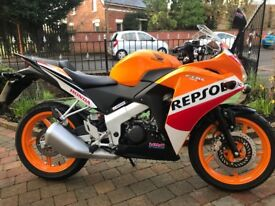 MINT 2016 HONDA CBR125R (REPSOL) MUST BE SEEN LOW MILAGE -FINANCE ETC £2799