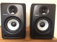 A PAIR OF PIONEER S-DJ60X MONITOR SPEAKERS. RRP £340