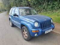 2003 Jeep Cherokee 3.7 Petrol Automatic 5dr 4x4 **SPARES OR REPAIR**