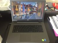 DELL Laptop Silver Inspiron 17: 17.3; HD Display; i5-5200U Processor; 12GB; NVIDIA GeForce Graphics
