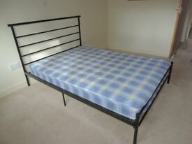 "Avalon 4'6"" Double Bed with Mattress - as new"