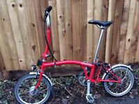 Brompton H3L folding bike - nearly new!