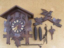 VINTAGE GERMAN CUCKOO CLOCK FOR REPAIR OR SPARES