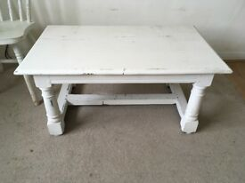Painted coffee table