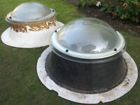 Skylight x2 roof light lantern dome Polycarbonate triple skinned flat roof
