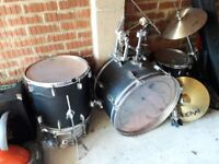 Pearl Drum Kit, Remo Heads, Paiste and Stagg Cymbals - Possible Delivery