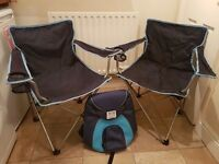 FREE 2 Camping chairs cool bag rucksack with coolers
