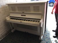 kemble over strung painted white shabby chic decoupage sheet music £225 can deliver