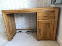 Solid oak computer desk