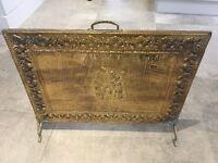 Antique Brass Fireguard