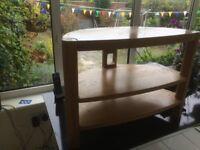 Stylish Solid Oak TV / DVD stand