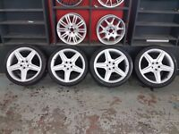 "ORIGINAL 20"" MERCEDES CLS AMG ALLOYS 5X112 STAGGERED NOT REPLICA COPIES"