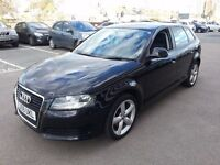 2009 AUDI A3 1.6 BLACK 1 OWNER NEW MOT LOW MILEAGE VERY CLEAN BOSE MUSIC SYSTEM