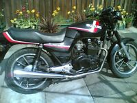 suzuki gs450 twin goes well £950 cafe racer 44hp