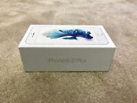 IPHONE 6S PLUS 32gb SILVER ON EE, TMOBILE & VIRGIN, 1 MONTH OLD BOXED AS NEW & 1 YEAR WARRANTY