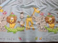 Beautiful animal print pair curtains