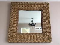 Large next rattan / wicker mirror