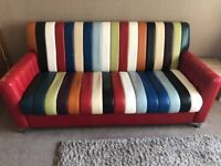 Paul Smith 3 seater beautiful leather sofa+chair+footstool, 3 years, great condition,