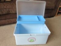 Mothercare nappy and wipes box, colour blue with car motiff