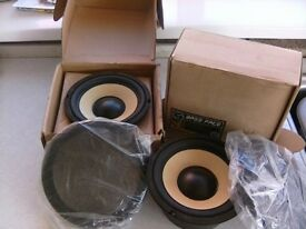 Brand New Bass Face SPL6M.2Mid Bass Driver Speakers.