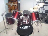 Dixon - 5 piece Drum Kit in Black with 2 symbols