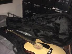 Electric acoustic fender guitar