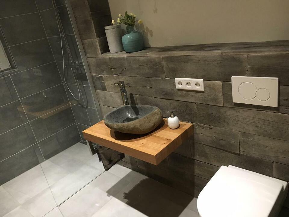Waschtisch Platte Brett Konsole Bad WC Baumkante Holz Eiche in Saarbrücken - Saarbrücken-Mitte