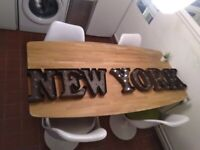 NEW YORK lighting letters battery operated central London bargain