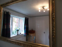 LARGE ORNATE STYLE GOLD QUALITY MIRROR