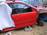 VW Polo 9N 2002 - 2009 O/S/F - Driver side Door LP3G Flash Red