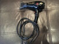Parlux 3800 Ceramic and Ionic Edition Eco Friendly Hair Dryer Black
