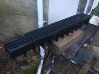 Plastic drainage - HDPE Drainage Channel x 1m - 14 units