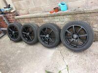 Alloy wheels x4 195/50r15 for citroen c2& peugeot 206